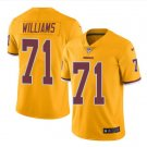 Men's Redskins #71 Trent Williams color rush Limited jersey yellow