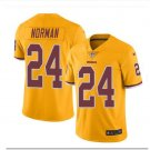 Men's Redskins #24 Josh Norman color rush Limited jersey yellow
