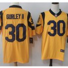 Men's Rams #30 todd gurley color rush Limited jersey yellow