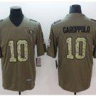 Men's 49ers #10 Jimmy Garoppolo salute to service jersey green camo