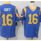 Men's Rams #16 Jared Goff color rush Limited jersey blue