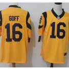 Men's Rams #16 Jared Goff color rush Limited jersey yellow