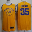 Men's Golden State Warriors 35 Kevin Durant Jersey Yellow NEW