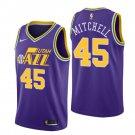 Men's Utah Jazz #45 Donovan Mitchell Jersey Purple- FREE SHIPPING