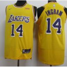 Men's LA Lakers 14 Brandon Ingram Stitched Jersey Yellow