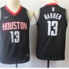 Mens Rockets #13 James Harden Black Basketball Jersey