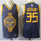 Mens Golden State Warriors 35# Kevin Durant Basketball Jersey Blue