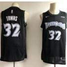 Men's Timberwolves #32 Karl-Anthony Towns Jersey Navy Blue Throwback