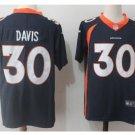 Men's Denver Broncos 30# Terrell Davis Jersey Navy Blue