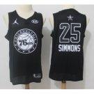 Mens ALL STAR GAME Philadelphia 76ers #25 Ben Simmons Black Jersey