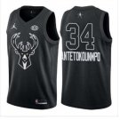 Men's ALL STAR GAME Bucks 34 Giannis Antetokounmpo Jersey Black