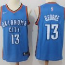 Paul George #13 Men's Oklahoma City Thunder Stitched Replica Jersey Blue