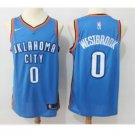Russell Westbrook #0 Men's Oklahoma City Thunder Stitched Replica Jersey Blue
