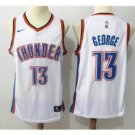 Men's Oklahoma City Thunder Paul George #13 Swingman Jersey White