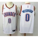 Men's Oklahoma City Thunder Russell Westbrook #0 Swingman Jersey White