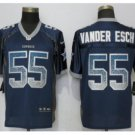 Mens Dallas Cowboys #55 Leighton Vander Esch Fashion drift Football jersey Navy
