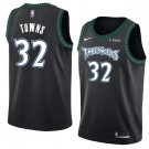 Men's Timberwolves #32 Karl-Anthony Towns Jersey Black Throwback