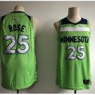 Men's Timberwolves #25 Derrick Rose Basketball Jersey Green New