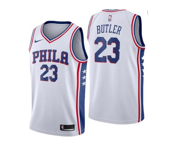 2019 Men's 76ers #23 Jimmy Butler Basketball Jersey White City Edition