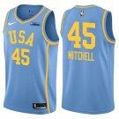 2018 NBA All-Star Rising Stars Challenge Game Team USA #45 Donovan Mitchell Blue Swingman Jersey