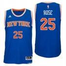 Men's New York Knicks #25 Derrick Rose New Swingman Road Blue Jersey 67dn