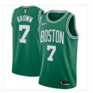 Men's Jaylen Brown #7 City Edition Basketball Jersey Shirt Green
