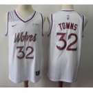 Men's Timberwolves #32 Karl-Anthony Towns Basketball Jersey White Earned Edition