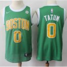 Men's Boston Celtics #0 Jayson Tatum Basketball Jersey Green Earned Edition