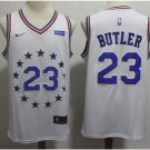 Men's Philadelphia 76ers #23 Jimmy Butler Basketball Jersey White New