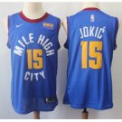 Men's Denver Nuggets #15 Nikola Jokic Basketball Jersey Blue 2019 New