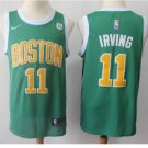 Men's Boston Celtics #11 Kyrie Irving Basketball Jersey Green 2019 New