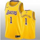 2018-19 Los Angeles Lakers #1 Kentavious Caldwell-Pope Swingman Gold Men's Jersey - Icon Edition