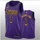2018-19 Los Angeles Lakers #1 Kentavious Caldwell-Pope Swingman Black Purple Men's Jersey