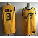 Ricky Rubio 3# Men's Utah Jazz Gold Player Jersey Replica