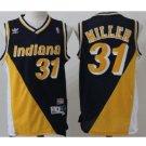 Men's Indiana Peacers #31 Reggie Miller Basketball Jersey Black Throwback