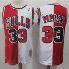Men Chicago Bulls #33 Scottie Pippen White Hardwood Classics Stitched Jersey