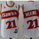 Men's Atlanta Hawks #21 Dominique Wilkins White Basketball Jersey