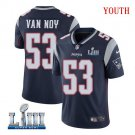 Patriots #Kyle Van Noy Youth Home Navy Blue Stitched Jersey Super Bowl LIII