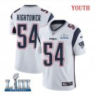 Patriots #54 Dont'a Hightower Youth Road White Stitched Jersey Super Bowl LIII