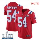 Patriots #54 Dont'a Hightower Youth Alternate Red Stitched Jersey Super Bowl LIII