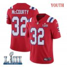 Patriots #32 Devin McCourty Youth Alternate Red Stitched Jersey Super Bowl LIII