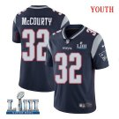 Patriots #32 Devin McCourty Youth Home Navy Blue Stitched Jersey Super Bowl LIII