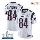 Patriots #84 Cordarrelle Patterson Youth Road White Stitched Jersey Super Bowl LIII
