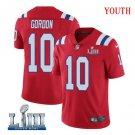 Patriots #10 Josh Gordon Youth Alternate Red Stitched Jersey Super Bowl LIII