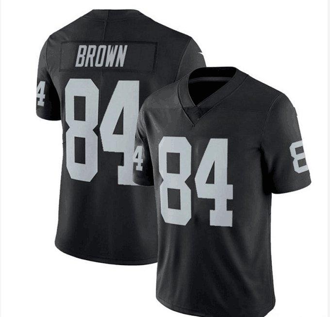 New 2019 Antonio Brown Raiders Men's Stitched White Jersey Size S-3XL