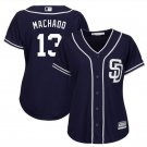 Women's Manny Machado San Diego Padres Cool Base Jersey blue
