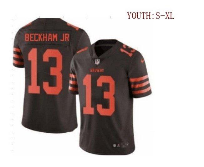 Youth boys Odell Beckham jr Cleveland Browns jersey brown