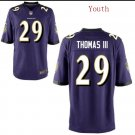 Youth boys Earl Thomas III Baltimore Raves purple game jersey