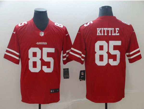 Men's 49ers 85# George Kittle Limited Jersey Red