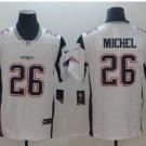 Men's Patriots 26# Sony Michel Limited Jersey White